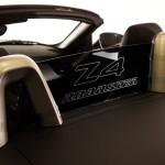 Z4 2009-2015 black polycarbonate AR2 wind deflector 2